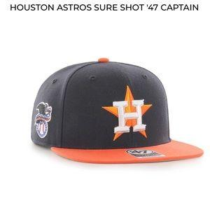NWOT HOUSTON ASTROS SURE SHOT '47 CAPTAIN HAT